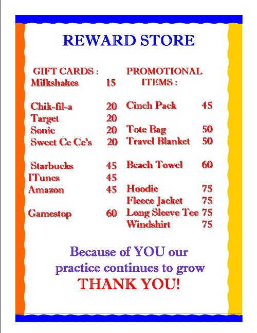 Reward-Store-List